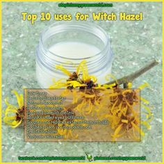 ☛ Witch Hazel is a must have in your bathroom. ✒ Share   Like   Re-pin   Comment