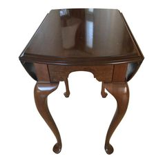 Furniture Candid Antique Side Table Two Deep Drawer Accent End Lamp Phone Stand Chippendale