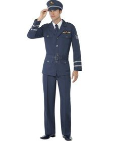 Naval Seaman Mens Fancy Dress 1940s Uniform Navy Military Costume 40s Outfit