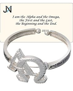 Jewelry Nexus Alpha Omega - Revelation Inspirational Hammered Cuff Bracelet and Prayer Card >>> Hope that you do love our photo. (This is our affiliate link) Revelation 22, Prayer Cards, Jewelry Boards, Latest Jewellery, Jewelry Trends, Omega, Cuff Bracelets, Diamond Earrings, Women Jewelry