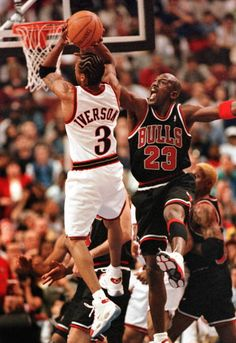 Allen Iverson and MJ
