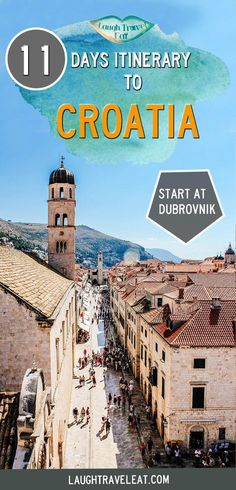 My 10 Day Itinerary to Croatia : 11 days in from South to North through Dubrovnik, Split, Zadar, Krka and Plitvice National Park Europe Travel Tips, European Travel, Travel Destinations, Holiday Destinations, Italy Travel, Travel Guide, Travel Diys, Europe Packing, Asia Travel