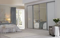 Sliding Wardrobes White Glass and Mirrors