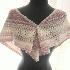 Shoulder Scarf Shades of Pink by OriginalsByAnnemarie on Etsy (Accessories, Scarves & Wraps, Scarves, scarf, wrap, shoulder scarf, handknit, lace, pink, knit, wool blend, eyelets, head scarf, women, teens)
