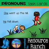 PRONOUNS - Task Cards - parts of speech