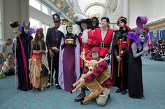 "Disney Villains. Including the hunter that killed Bambi's mother!    ""The 25 Best Costumes We've Seen So Far At Comic-Con"""