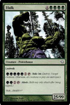#Hulk MTG card I made a while back. =]