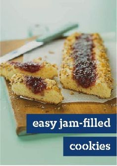 Easy Jam-Filled Cookies — Our easy bake and slice technique for this classic recipe will save you lots of time in the kitchen.