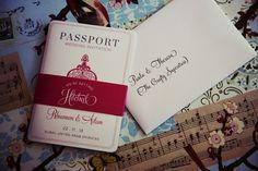 My Wedding Invites - Passport Style: Photography Credit: Goldfish Photography and Video, Dubai.