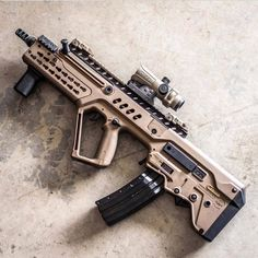 One of my favourite tactical rifles. Accurate as hell and compact in QCB situations Weapons Guns, Guns And Ammo, Zombie Weapons, Airsoft, Revolver, Armas Ninja, Battle Rifle, Long Rifle, Submachine Gun
