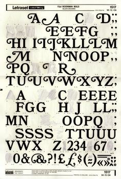 Letraset ♥