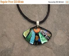 Christmas in July Sale Fused Dichroic Glass Multi-Colored