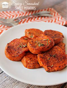 These Paleo Spicy Smashed Sweet Potatoes have been a favorite of mine for years! Make sure to try them today!