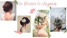 Inspirations coiffures fleuries, coiffures pour mariage ou événement, tresses, chignons, couronnes de fleurs. DIY de L'Échoppe Végétale, box jardinage bio