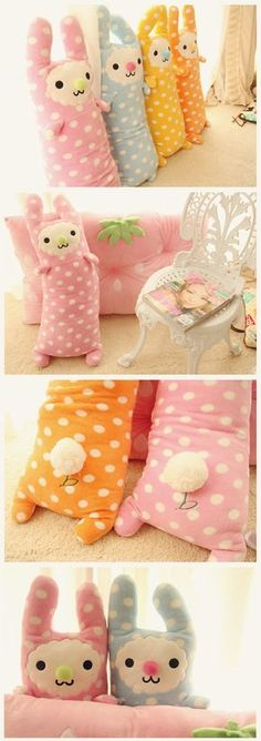 99 yuan kawaii plushie pillow rabbit. No instructions-just the pictures. Easy to recreate though!