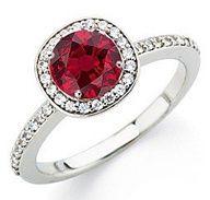 ☆ Stunning Ruby & Diamond Ring ☆  #rings http://www.finditforweddings.com