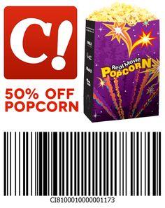 50% off popcorn this weekend at Celebration Cinema!