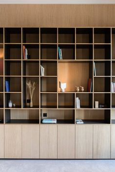 New wood architecture interior bookshelves ideas Creative Bookshelves, Bookshelf Design, Bookshelf Ideas, Bookcase, Home Office Design, Interior Design Living Room, House Design, Built In Furniture, Furniture Design