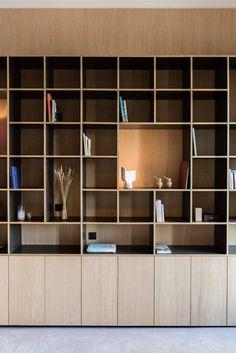 New wood architecture interior bookshelves ideas