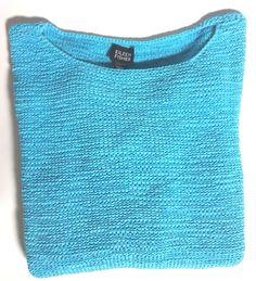 New  Eileen Fisher Sz M Pullover Ballet Neck 3/4 Sleeve Turquoise Sweater  #EileenFisher #BalletNeck  SOLD