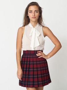 american apparel  secretary blouse