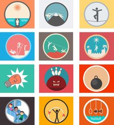 Circus-Flat-Icons-PSD.jpg (1000×1100)
