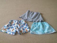 1 pair of shorts and 2 skirts for children Homemade Crafts, Pairs, Shorts, Children, Boys, Kids, Big Kids, Children's Comics, Sons