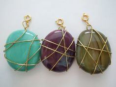 Saturday Morning Stone Pendant... Free pattern!... You could make a cool charm bracelet with your little painted pebbles!