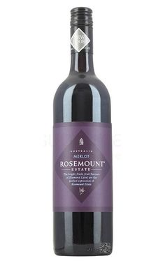Rosemount Diamond Label Merlot South Eastern Australia #RosemountWines #Merlot #redwine #wine #Australia #Justwines (click on bottle image for tasting notes) Cheap Red Wine, Soft Palate, Cherry Red Color, Bottle Images, Red Grapes, Wine Online, Blackberry, Vodka Bottle, Wine Australia