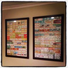 Maayyybbee, but i kinda want something more creative! Concert Tickets, Concert Posters, Event Tickets, Concert Ticket Display, Ticket Stubs, Diy Craft Projects, Diy Crafts, Music Wall, Travel Memories