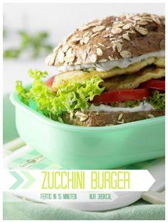 Vegetarischer Burger - rezept für Omelett-Burger mit Zucchini | Kalorien: 389 Kcal - Zeit: 15 Min. | http://eatsmarter.de/rezepte/omelett-burger-zucchini