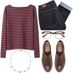 """Can we go thrift shopping?"" by rosiee22 on Polyvore: Vintage Optical RX Clear Lens Clubmaster Wayfarer Glasses 2946"