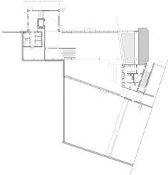 Concave roof links two parts of a Copenhagen cultural centre Copenhagen, Cultural Center, Centre, Floor Plans, Design, Floor Plan Drawing, House Floor Plans