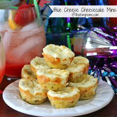 Blue Cheese Cheesecake is a savory cheesecake with a savory cornmeal crust full of blue cheese with a garlic and basil flavor.