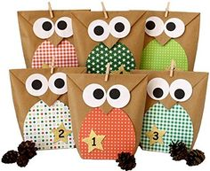 Papierdrachen DIY Advent Calendar - Christmas Owls red - Advent Calendar for Making and Filling Christmas Owls, Christmas Crafts, Xmas, Christmas Ornaments, Advent Calenders, Diy Advent Calendar, Diy For Kids, Crafts For Kids, Happy Jar