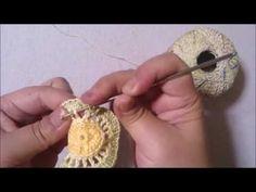 DIY CROCHET SQUARE 3D MOTIVO EM 3D EM CROCHE