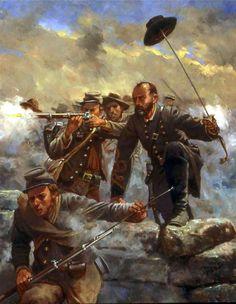 El general Lewis Armistead en Gettysburg