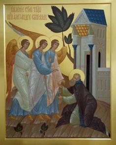 Religious Icons, Religious Art, Orthodox Christianity, Orthodox Icons, Saints, Angel, Children, Painting, Byzantine Icons