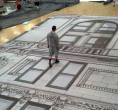 Printing the huge architectural rendering that graces The Plaza Hotel.