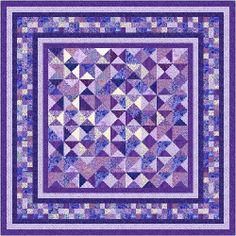 "OPHELIA - 91"" - Quilt-Addicts Pre-cut Patchwork Quilt Kit or Finished Quilt Queen size"