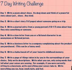 7 days of writing challenge. I don't particularly like poems, but I'll give it a shot :)