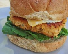 Buffalo chicken burgers-would be good with ground turkey as well, or as meatballs for a party...
