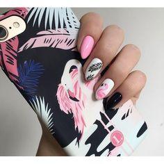"Маникюр с ""фламинго"" #маникюр #ногти #manicure #nails #nail #nailswag #nailstagram #красота #nailsart #маникюрчик #ногтики #маникюрныйинстаграм"
