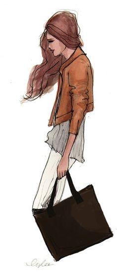 #Chic #illusration #fashion #style #inslee #art