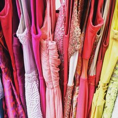 Just a little #monday morning organizing in the office.  #ombré #rainbow #dreamcloset #howprettyarethese? #pinks
