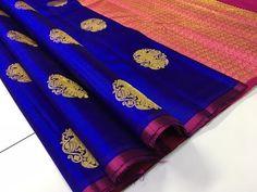 Majestic Kanchipuram Pure Silks Online - YouTube Kanchi Organza Sarees, Kanjivaram Sarees Silk, Blue Silk Saree, Satin Saree, Indian Silk Sarees, Soft Silk Sarees, Ethnic Sarees, Black Saree, Pattu Sarees Wedding