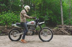 Backwoods blaster: Federal Moto's custom Honda XR650L scrambler.