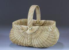 Split White Oak Egg Basket by Leona Waddell/ white oak splits, handles, ribs