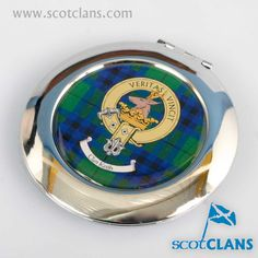 Keith Clan Crest and Tartan Compact. Free worldwide shipping available