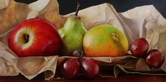 Colored Pencils, Pencil Drawings, Ideas Para, Still Life, Pear, Watercolor, Pictures, Etsy, Painting